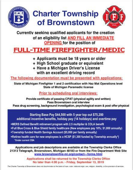 Brownstown Professional Fire Fighters | IAFF Local 4112